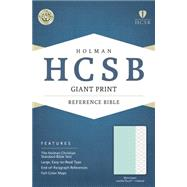 HCSB Giant Print Reference Bible, Mint Green LeatherTouch, Indexed by Holman Bible Staff, 9781433617799