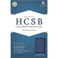 HCSB Large Print Personal Size Bible, Cobalt Blue LeatherTouch, Indexed by Holman Bible Staff, 9781433617805