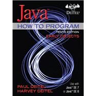 Java How To Program (Early Objects) by Deitel, Paul; Deitel, Harvey, 9780133807806