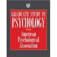 Graduate Study in Psychology 2015 by American Psychological Association, 9781433817809