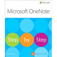 Microsoft OneNote Step by Step by Frye, Curtis, 9780735697812