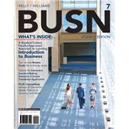 BUSN 7 (with CourseMate Printed Access Card) by Kelly, Marcella; Williams, Chuck, 9781285187822