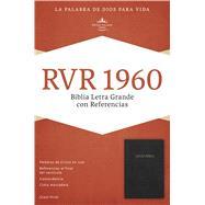 RVR 1960 Biblia Letra Grande con Referencias, negro imitación piel con índice by Unknown, 9781433607868