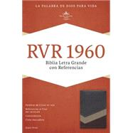 RVR 1960 Biblia Letra Grande con Referencias, marrón/tostado/bronceado símil piel by Unknown, 9781433607875