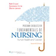 Procedure Checklists for Fundamentals of Nursing Human Health and Function