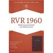 RVR 1960 Biblia Letra Grande con Referencias, borgoña imitación piel con índice by Unknown, 9781433607899