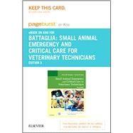 Small Animal Emergency and Critical Care for Veterinary Technicians Pageburst E-book on Kno Retail Access Card by Battaglia, Andrea M.; Steele, Andrea M., 9780323227919