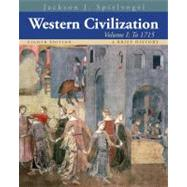 Western Civilization A Brief History, Volume I: To 1715 by Spielvogel, Jackson J., 9781133607922