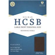 HCSB Large Print Personal Size Bible, Brown Genuine Cowhide Indexed by Holman Bible Staff, 9781586407926