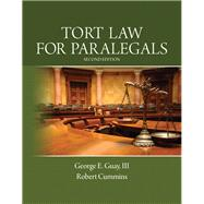 Tort Law for Paralegals by Guay III, George E.; Cummins, Robert, 9780133067941