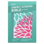 KJV Compact Ultrathin Bible for Teens, Green Blossoms LeatherTouch by Unknown, 9781433617942