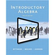 Introductory Algebra by Bittinger, Marvin L., 9780321867964