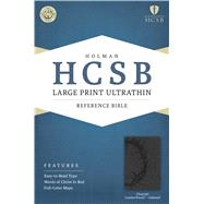 HCSB Large Print Ultrathin Reference Bible, Charcoal LeatherTouch Indexed by Holman Bible Staff, 9781586407964