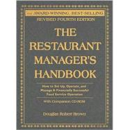 The Restaurant Manager's Handbook by Brown, Douglas R., 9780910627979