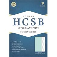 HCSB Super Giant Print Reference Bible, Mint Green LeatherTouch, Indexed by Holman Bible Staff, 9781433617980