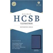 HCSB Ultrathin Reference Bible, Cobalt Blue LeatherTouch by Holman Bible Staff, 9781433617997
