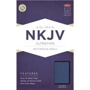NKJV Ultrathin Reference Bible, Cobalt Blue LeatherTouch by Holman Bible Staff, 9781433618017
