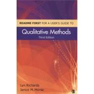 Readme First for a User's Guide to Qualitative Methods by Lyn Richards, 9781412998062