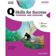Q:Skills for Success Listening and Speaking 2E Intro Student Book by McClure, Kevin; Vargo, Mari, 9780194818070