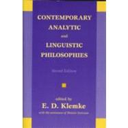 Contemporary Analytic and Linguistic Philosophies by KLEMKE, E. D.GEIRSSON, HEIMIR, 9781573928076
