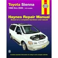 Haynes Repair Manual Toyota Sienna 1998 Through 2009 by Storer, Jay, 9781563928086