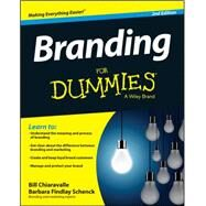 Branding for Dummies by Chiaravalle, Bill; Schenck, Barbara Findlay, 9781118958087