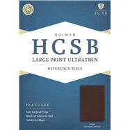 HCSB Large Print Ultrathin Reference Bible, Brown Genuine Cowhide by Holman Bible Staff, 9781586408091