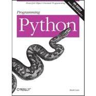 Programming Python by Lutz, Mark, 9780596158101