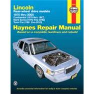 Lincoln Rear-Wheel Drive Automotive Repair Manual by Haynes, Max, 9781563928123