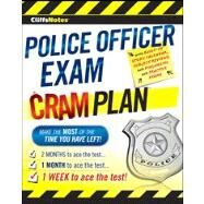 Cliffsnotes Police Officer Exam Cram Plan by Unknown, 9780470878125
