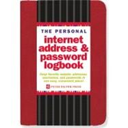 The Personal Internet Address & Password Logbook - Red by Peter Pauper Press, Inc., 9781441308146