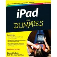 iPad for Dummies by Baig, Edward C.; Levitus, Bob, 9781118498231