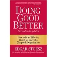 Doing Good Better by Stoesz, Edgar, 9781561488247