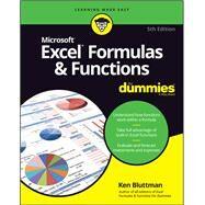 Excel Formulas & Functions by Bluttman, Ken, 9781119518259
