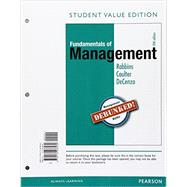 Fundamentals of Management Essential Concepts and Applications, Student Value Edition by Robbins, Stephen P.; Coulter, Mary A.; De Cenzo, David A., 9780134238289