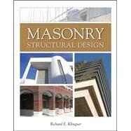 Masonry Structural Design by Klingner, Richard E., 9780071638302