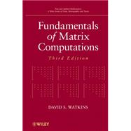 Fundamentals of Matrix Computations by Watkins, David S., 9780470528334