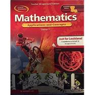 Mathematics Application and Concepts Course 1 Louisiana Edition (Course 1) by Glencoe, 9780078668340