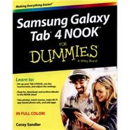Samsung Galaxy Tab 4 Nook for Dummies by Sandler, Corey, 9781119008347