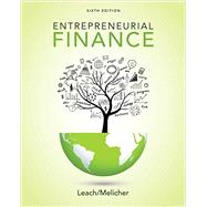 Entrepreneurial Finance by Leach, J. Chris; Melicher, Ronald W., 9781305968356