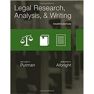 Legal Research, Analysis, and Writing by Putman, William H.; Albright, Jennifer, 9781305948372