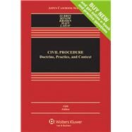 Civil Procedure Doctrine, Practice, and Content by Subrin, Stephen N.; Minow, Martha L.; Brodin, Mark S.; Main, Thomas O., 9781454868378