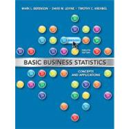 Basic Business Statistics by Berenson, Mark L.; Levine, David M.; Krehbiel, Timothy C., 9780132168380