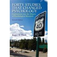 Forty Studies that Changed Psychology, 7/e by HOCK, 9780205918393