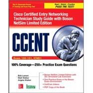 CCENT Cisco Certified Entry Networking Technician ICND1 Study Guide (Exam 100-101) with Boson NetSim Limited Edition by Larson, Bob; Walker, Matt, 9780071838399