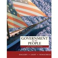 Government by the People 2011 : National, State, and Local by Magleby, David B.; Light, Paul C.; Nemacheck, Christine L., 9780205828401