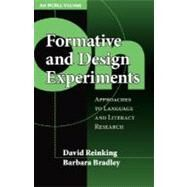 On Formative and Design Experiments: Approaches to Language and Literacy Research by Reinking, David, 9780807748411