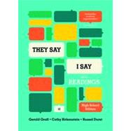 They Say / I Say by Graff, Gerald; Birkenstein, Cathy; Durst, Russel, 9780393938432