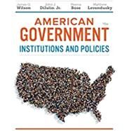 American Government, Essentials Edition, 16th by Wilson/Diiulio/Bose, 9781337568432