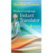 Medical Language Instant Translator by Chabner, Davi-Ellen, 9780323378437